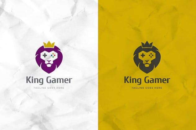 Lion Gamer Logo Template