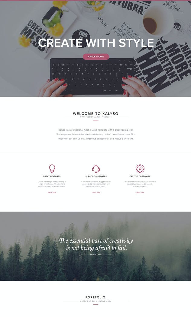 Kalyso - Multipurpose Muse Template for Creatives - product preview 2