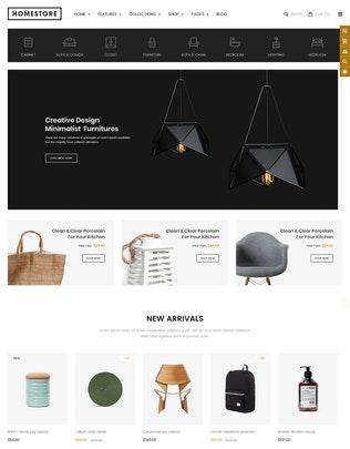 Thumbnail for HomeStore - Furniture Sections Shopify Theme