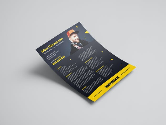 Modern DJ Press Kit / Resume / Rider Template - product preview 1