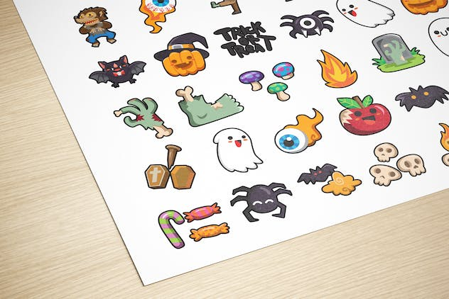 60 Halloween Cute Characters - product preview 1