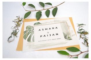 Thumbnail for Beautiful Realistic Wedding Invitation Mockup V4