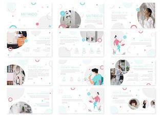 Thumbnail for Metrico - Google Slide Template