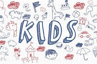 Miniatura para Quinto grado - todas las tapas divertido doodle fuente