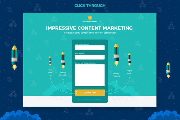 Content Marketing Unbounce Landing Page - product preview 2