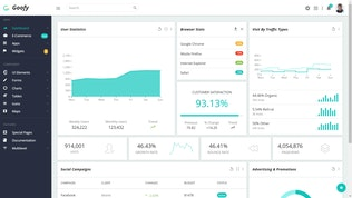 Thumbnail for Goofy - Multipurpose Bootstrap Admin Dashboard