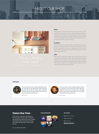 Thumbnail for Flatstore - eCommerce Muse Template