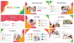 Thumbnail for Kids Zone - Playful Google Slides Template