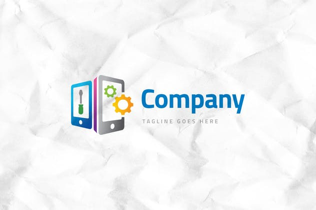 Mobile Repair Logo Template - product preview 1