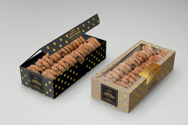 Food Pastry Boxes Vol.2: Packaging Mockups - product preview 3