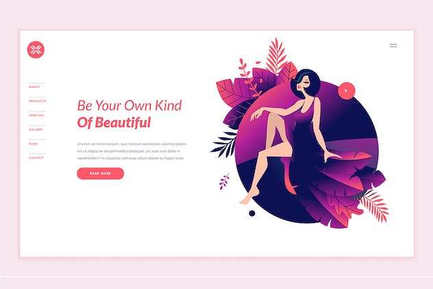 Beauty Web Page Design Template - product preview 1