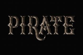 Миниатюра для Корсар и пираты Photoshop Стили слоев FX