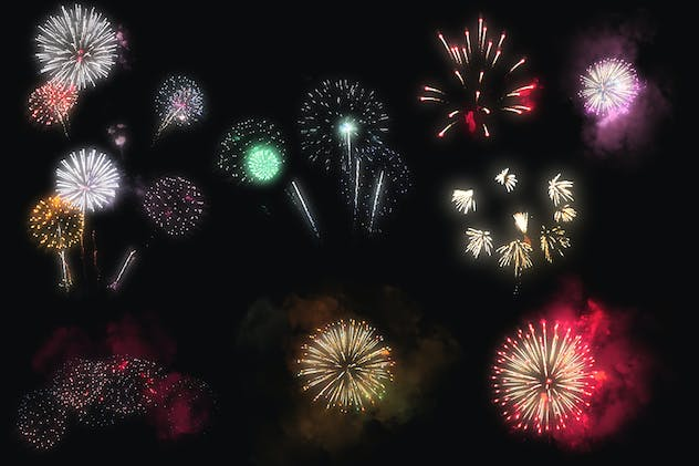 100 Firework Overlays - product preview 14