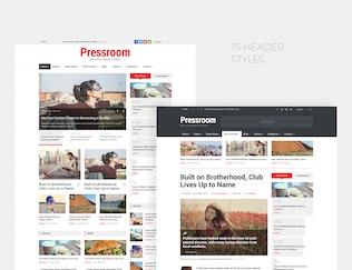 Miniatura para Pressroom - Plantilla de Noticias y Revista Responsivo