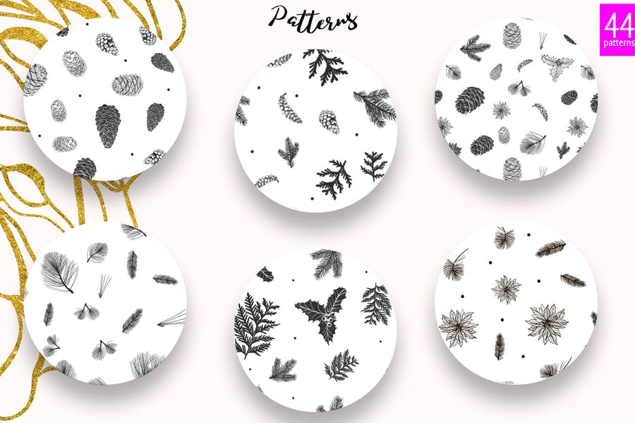 44 Winter patterns set - product preview 2