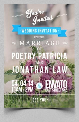 Thumbnail for Typography Wedding Invitation