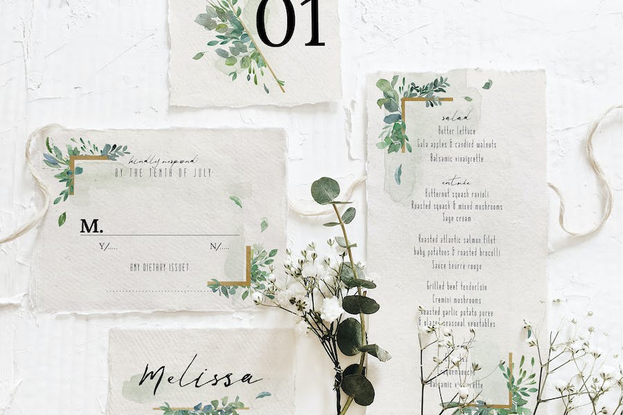 Gold & Greenery Wedding Suite - product preview 2