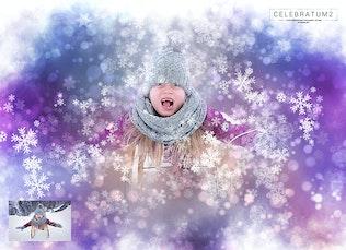Thumbnail for Celebratum 2 - Christmas Snowflakes Photoshop Acti