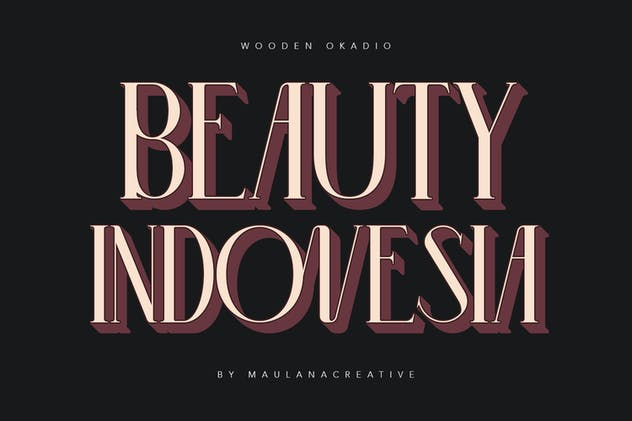 Wooden Okadio Serif Decorative Font