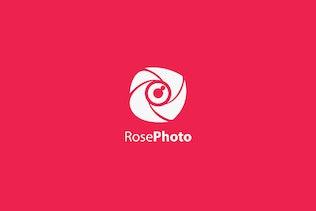 Rose Photo Logo Template