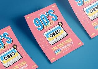 Thumbnail for 90's Music Flyer