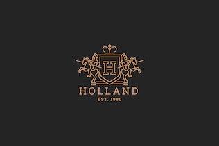 Thumbnail for Holand - Letter H Heraldry Logo Template