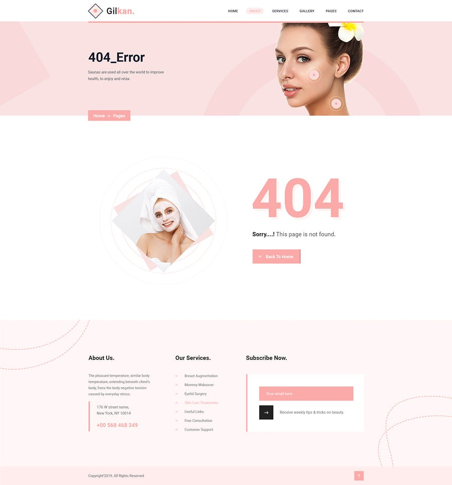 Gilkan - Dermatology and Skin Care HTML5 Template - product preview 0