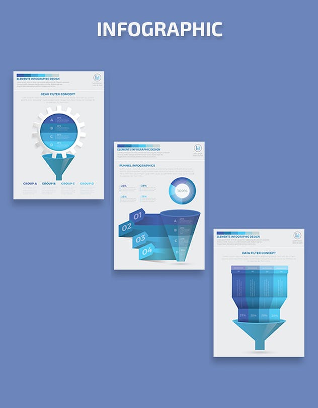 Blue Filter Funnel Infographics - product preview 5