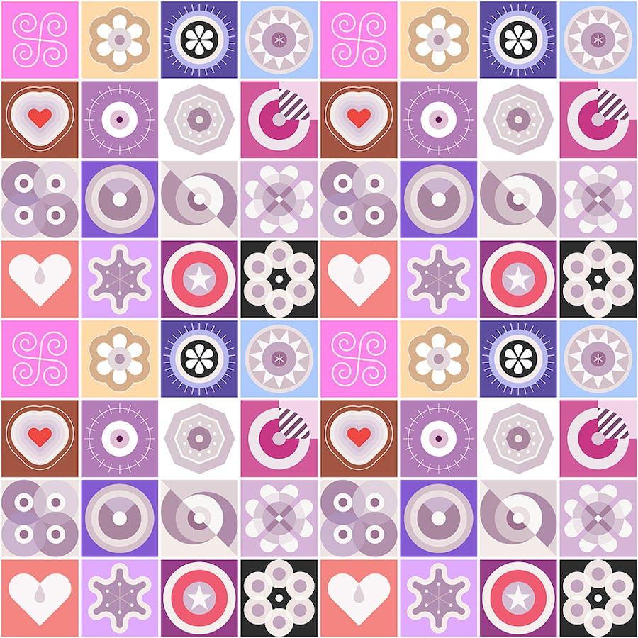 2 Options of a Seamless Patterns Vector Background - product preview 1