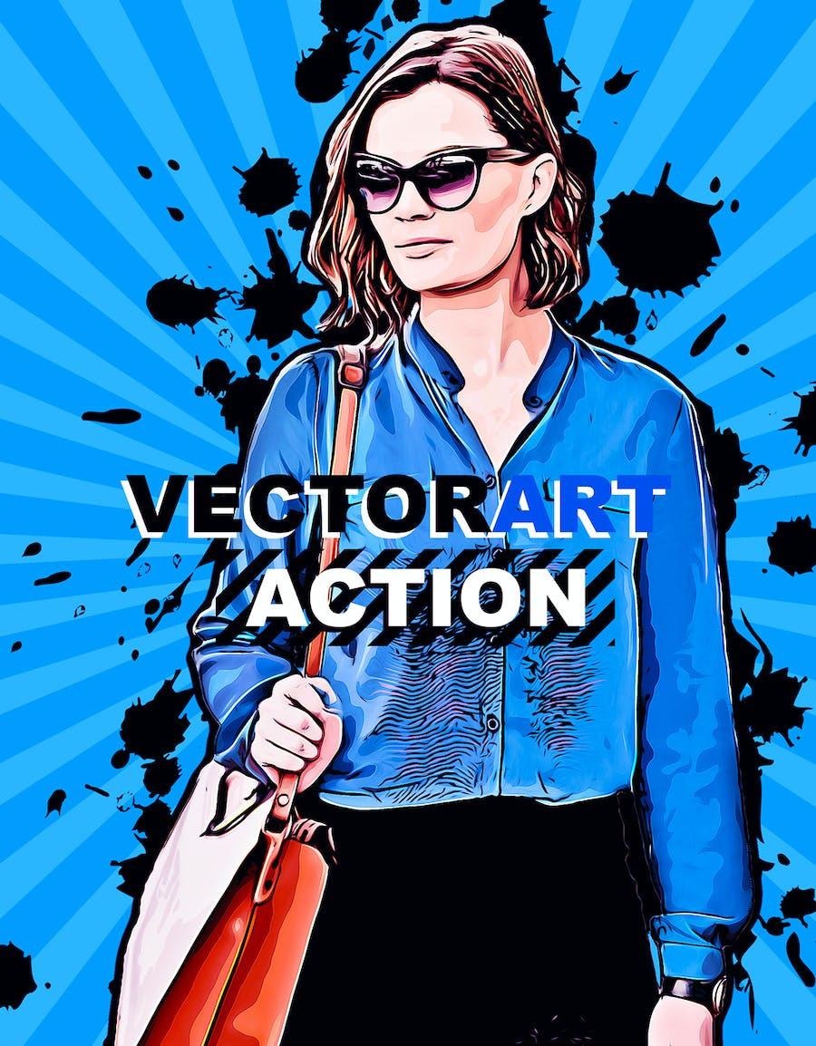 VectorArt Photoshop Action - product preview 2