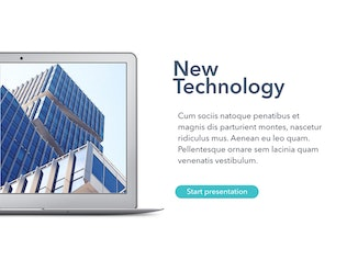 Thumbnail for New Technology Keynote Template