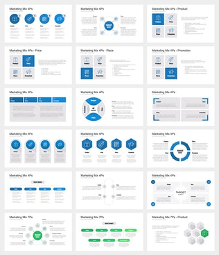 Thumbnail for Marketing Mix PowerPoint Template