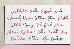 Thumbnail for Bloomy Script - Handwritting Font