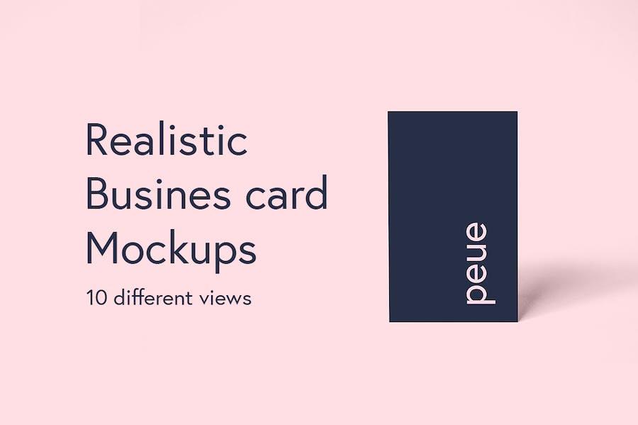 Preview image 2 for Peue - Реалистичный макап для визитных карточек