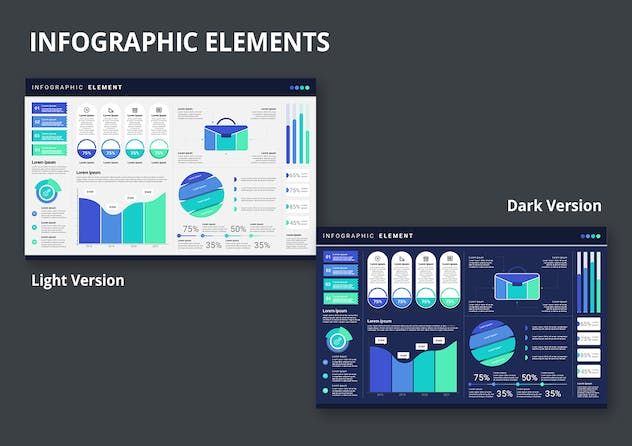 Infographic Examples for Designer V.17 - product preview 2