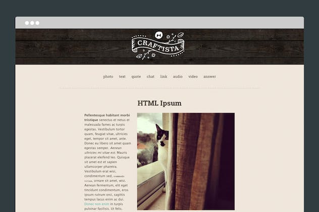 Craftista Tumblr Theme - product preview 2
