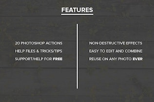 FilterGrade Light Leaks Photoshop Actions S1 by filtergrade on