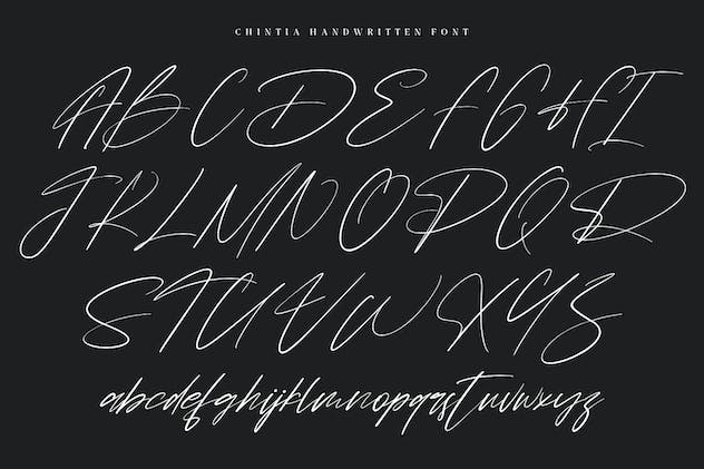 Chintia Slanted Script Brush Handmade Beauty Font - product preview 5