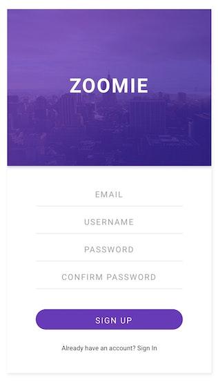 Thumbnail for Zoomie - Social Media Mobile APP