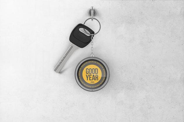 Branded Metal Keychain Mockup