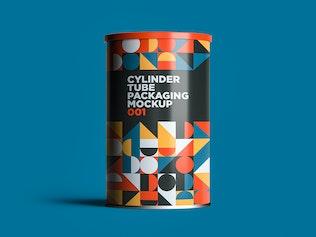 Thumbnail für Zylinderrohr Verpackung Mockup 001