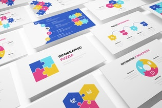 Thumbnail for Puzzle Infographic Google Slides Template