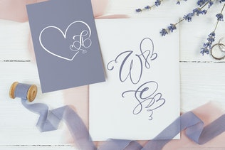 Thumbnail for Initial Valentine Font