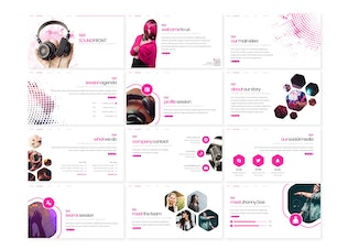 Thumbnail for Soundfront - Powerpoint Template