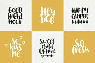 Thumbnail for August Boy Bold brush font + Dingbat