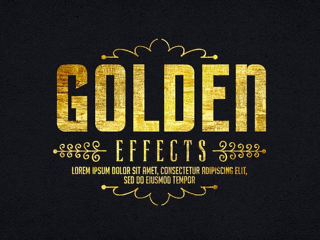 Gold Text Effects 1 - product preview 3