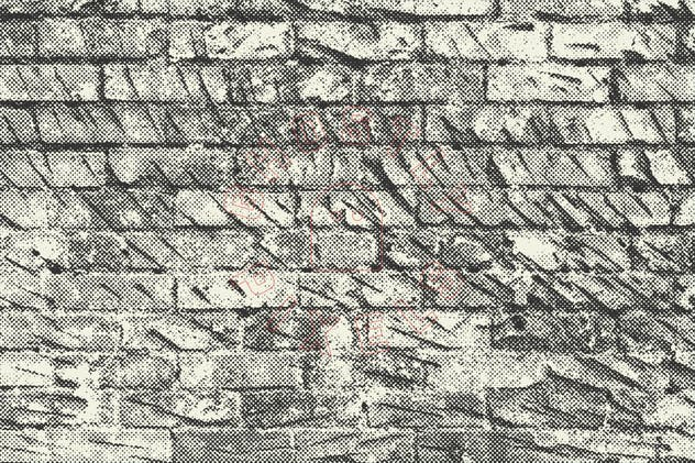 Halftone Brick & Stone Wall Textures - product preview 10