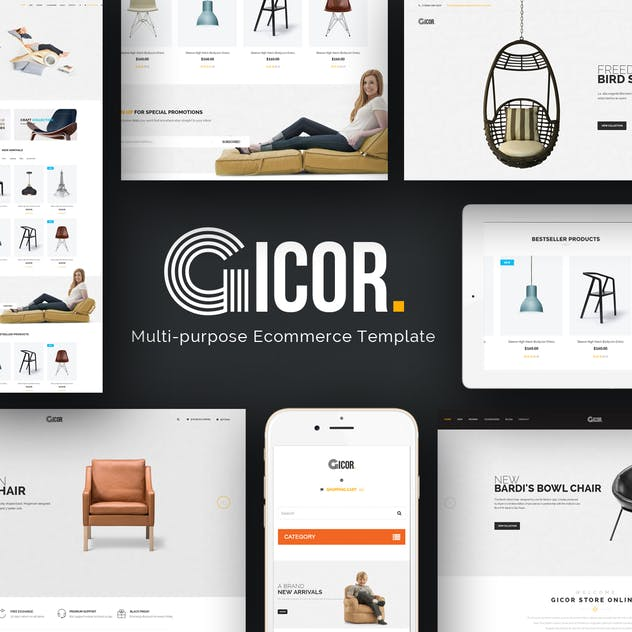 Gicor - Furniture Responsive Magento 2 Theme