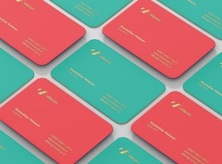Thumbnail for Business Card Mockup Round Corners