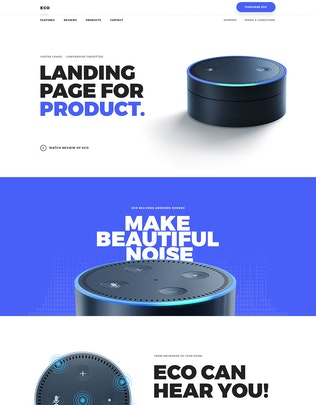 Thumbnail for Eco - HTML Product Landing Page